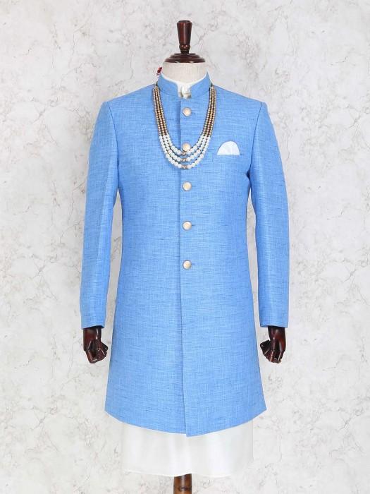 Blue Color Party Indo Western