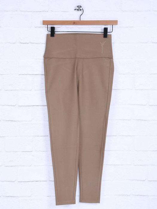 Boom Beige Colored Simple Jeggings