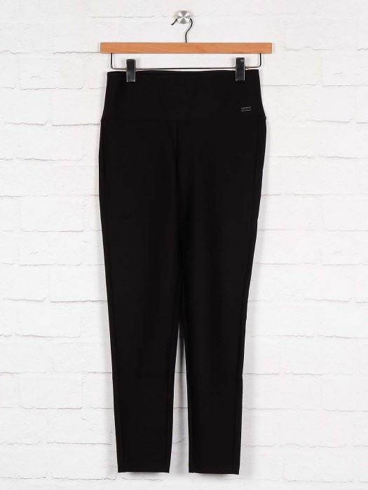 Boom Black Color Cotton Jeggings