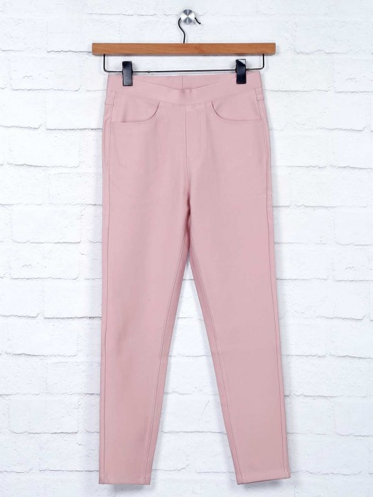 Boom Powder Pink Cotton Jeggings