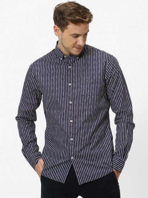Celio Casual Wear Navy Stripe Shirt