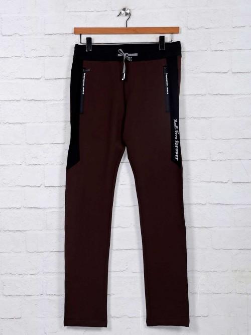 Chopstick Brown Mens Cotton Track Pant