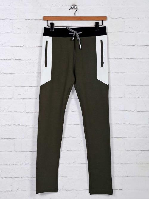 Chopstick Comfort Fit Olive Track Pant