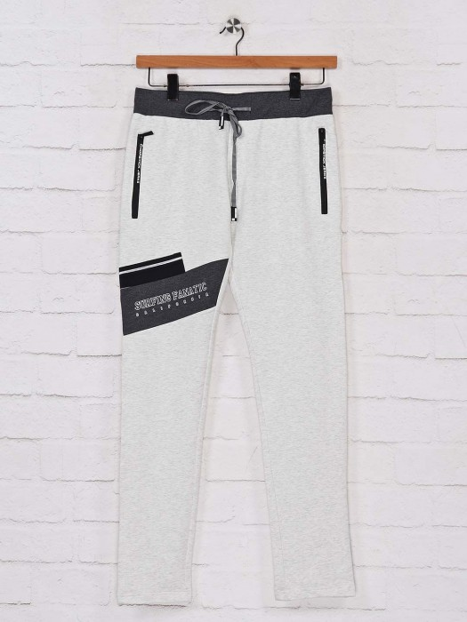 Chopstick Grey Cotton Night Wear Track Pant