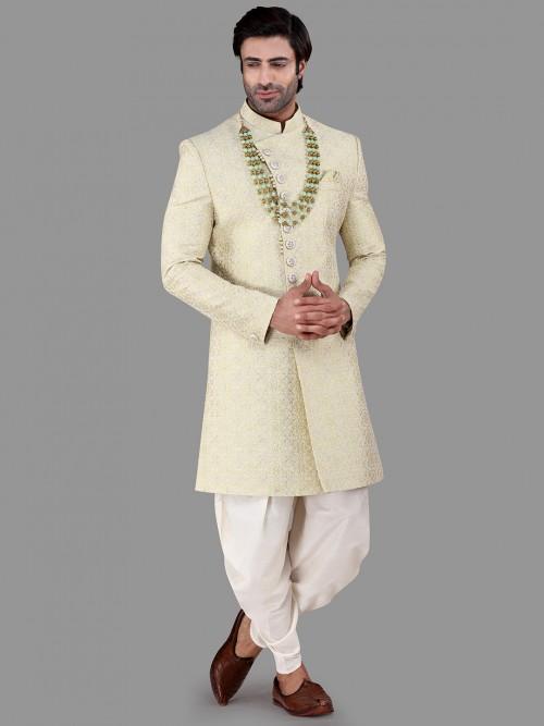 Classy Pista Green Silk Indo Western