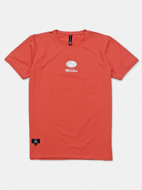Cookyss Casual Wear Orange Printed T-shirt