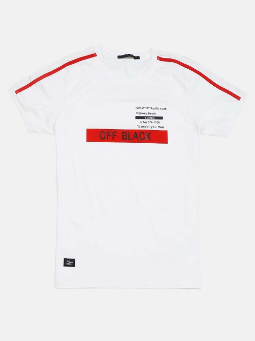 Cookyss Casual Wear White Printed T-shirt