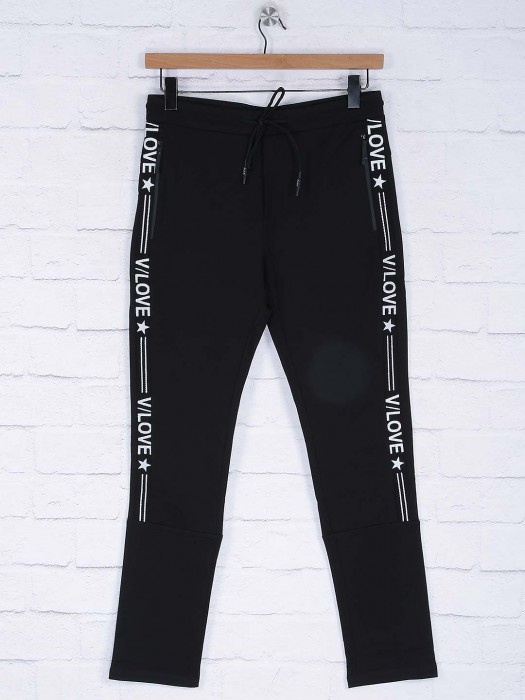 Cookyss Cotton Black Color Track Pant