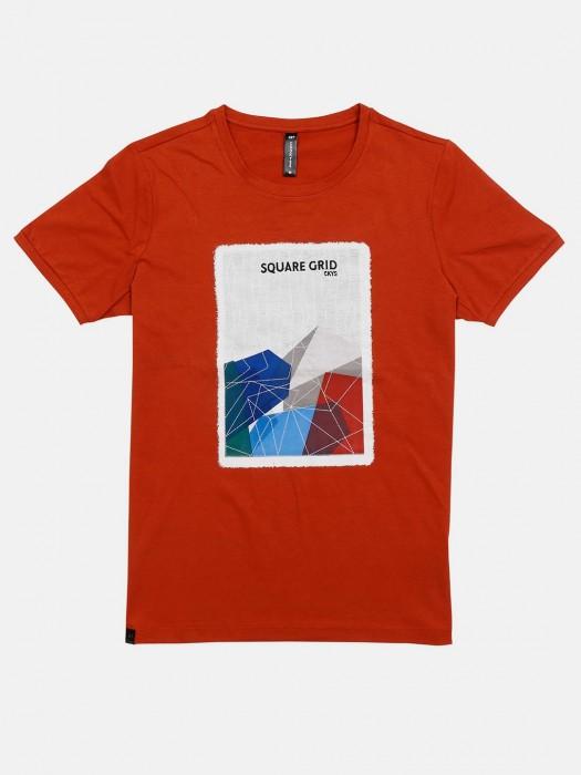 Cookyss Rust Orange Printed T-shirt