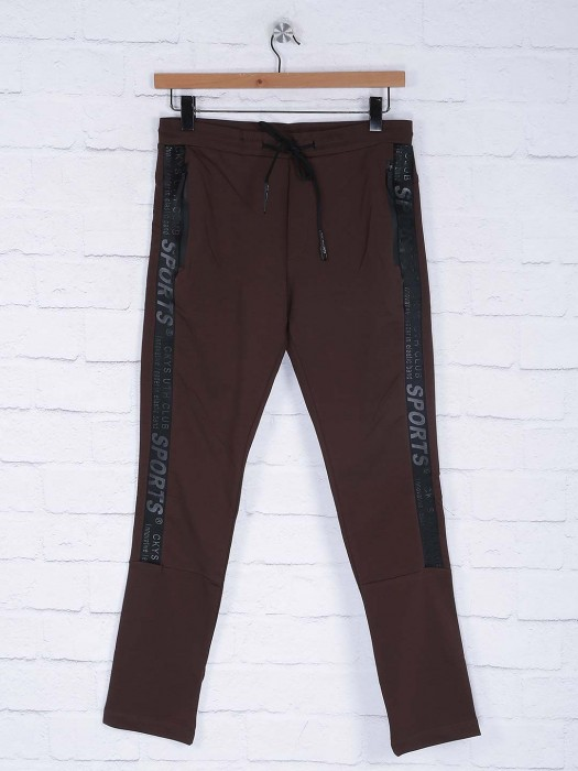 Cookyss Solid Brown Hued Track Pant