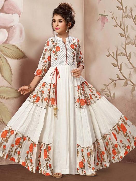 Cotton Fabric Printed Anarkali Salwar Suit