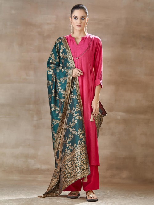 Cotton Pink Festivals Salwar Suit