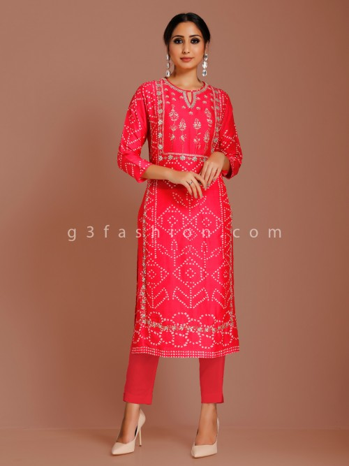 Cotton Silk Printed Punjabi Suit For Festive