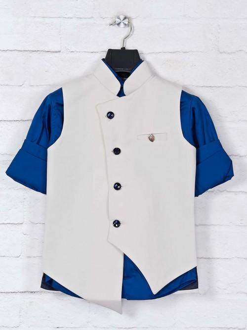 Cream Terry Rayon Boys Waistcoat Set