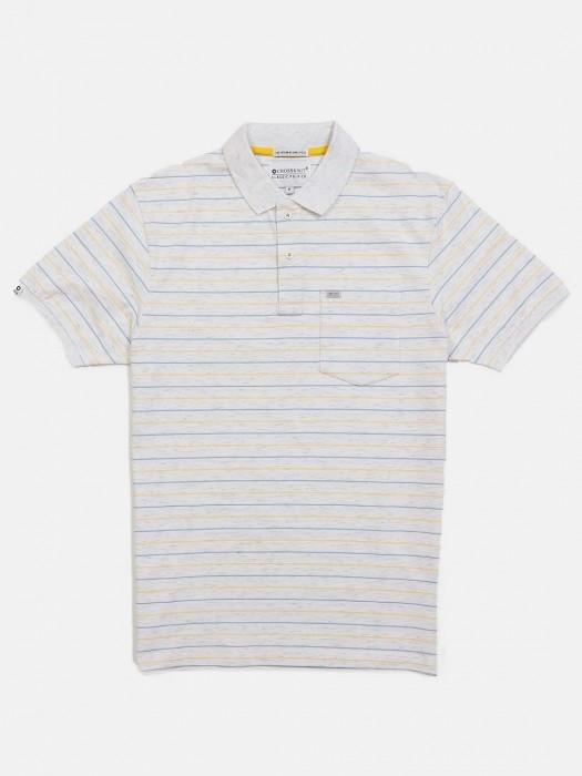 Crossknit Off White Stripe Slim Fit T-shirt