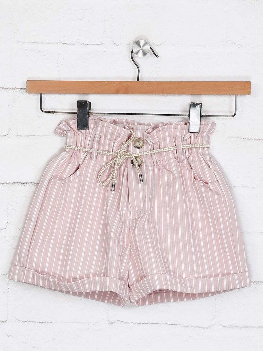 Deal Cotton Pink Casual Shorts
