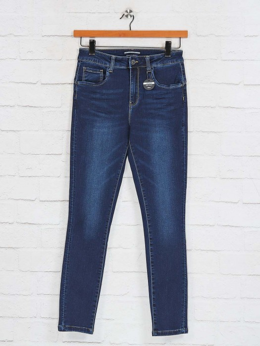 Deal Navy Denim Solid Womens Jeans
