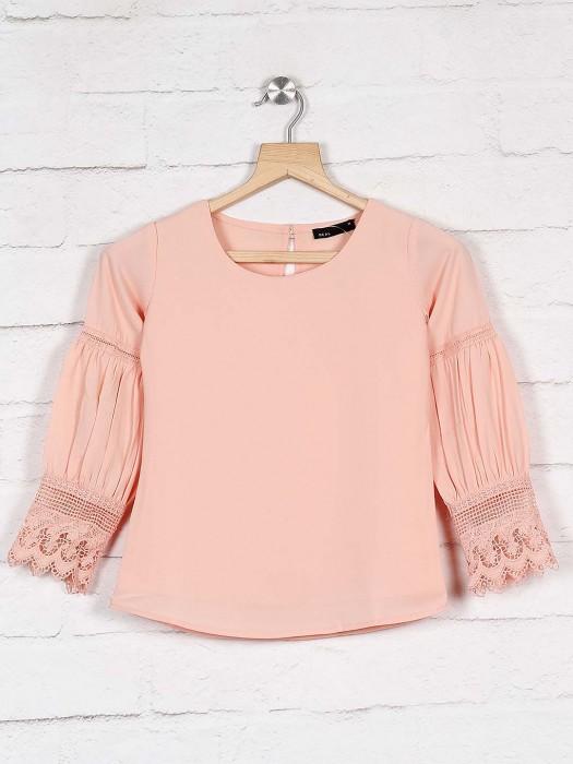 Deal Peach Hue Casual Cotton Top