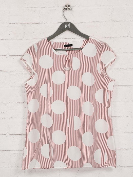 Deal Pink Printed Sleeveless Top