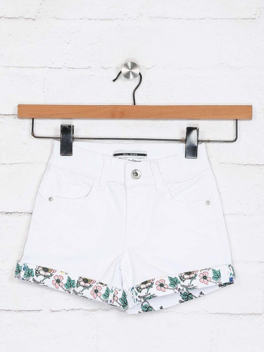 Deal Presented Solid White Shorts