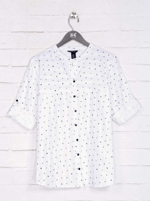 Deal White Printed Design Top
