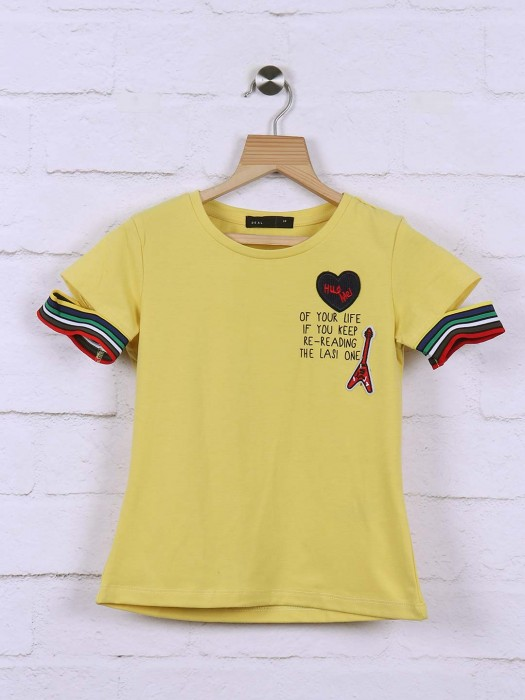 Deal Yellow Cotton Top
