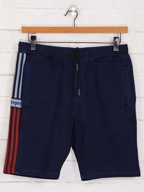 Deepee Navy Denim Casual Wear Shorts