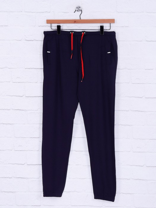 Deepee Navy Hued Cotton Track Pant