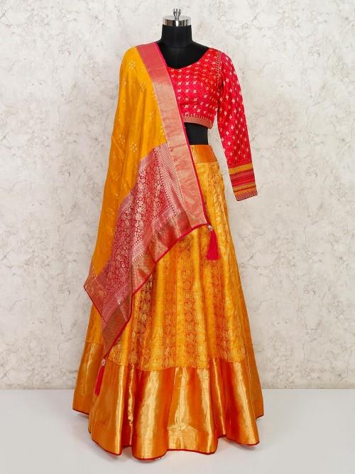 Designer Banarasi Silk Wedding Wear Lehenga Choli
