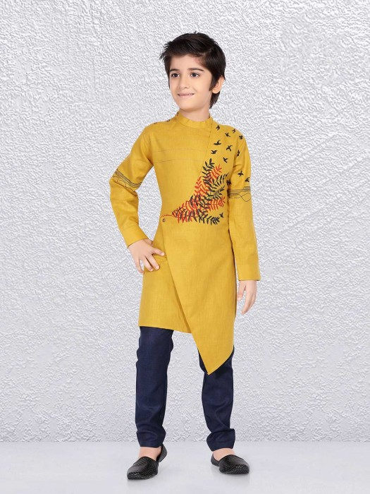 Designer Yellow Color Kurta Suit