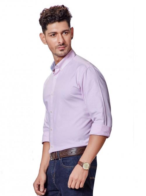 Dragon Hill Pink Solid Slim Fit Shirt