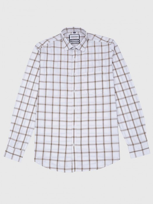 Easies Casual Wear White Checks Shirt
