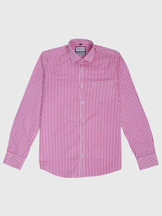 Easies Pink Hue Stripe Pattern Shirt