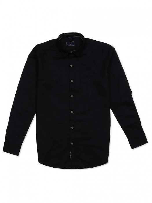 EQIQ Black Colored Cotton Shirt