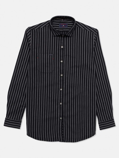 Eqiq Cotton Shirt With Black Stripes