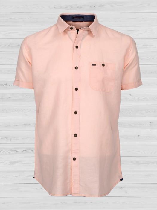 EQIQ Presented Light Peach Shirt