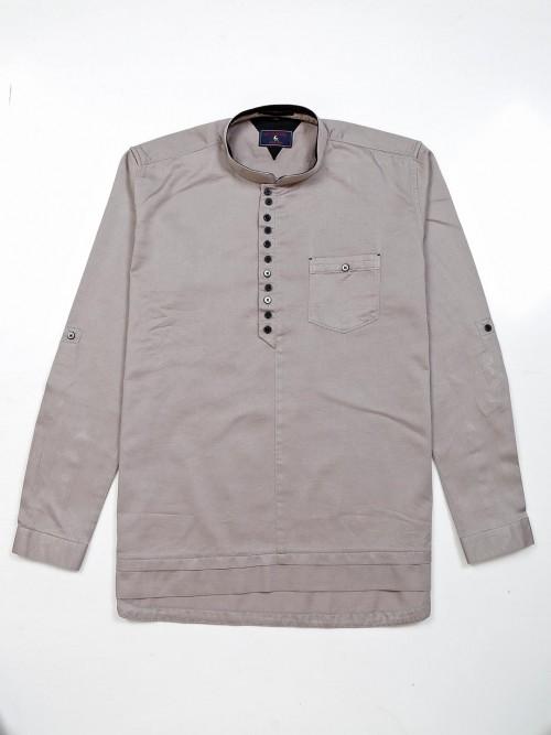 Eqiq Solid Grey Cotton Shirt Casual Wear