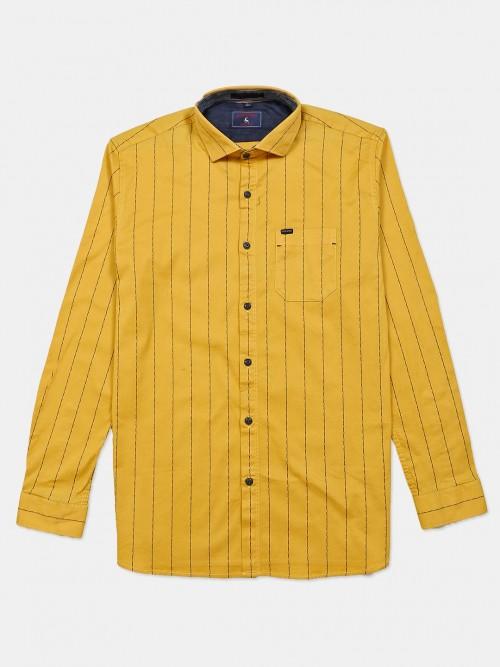 Eqiq Yellow Stripe Cotton Shirt