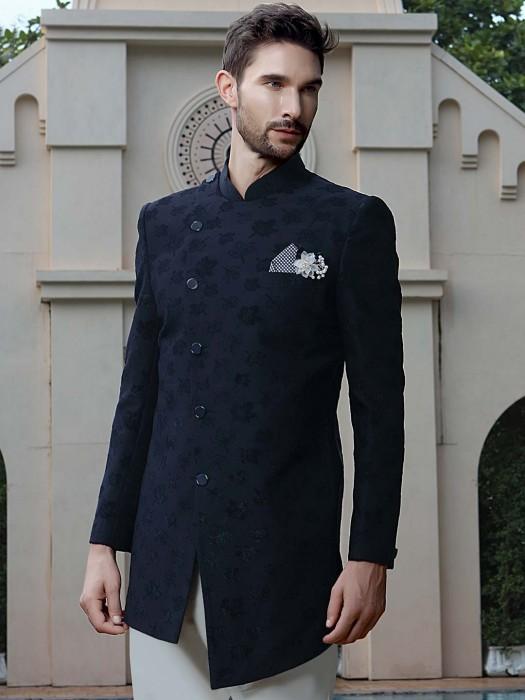 Ethnic Look Navy Color Wedding Indo Western