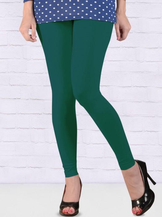 FFU Comfortable Green Hue Ankal Length Leggings