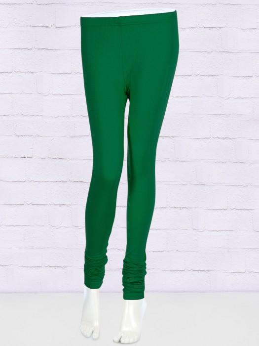 FFU Simple Green Color Leggings