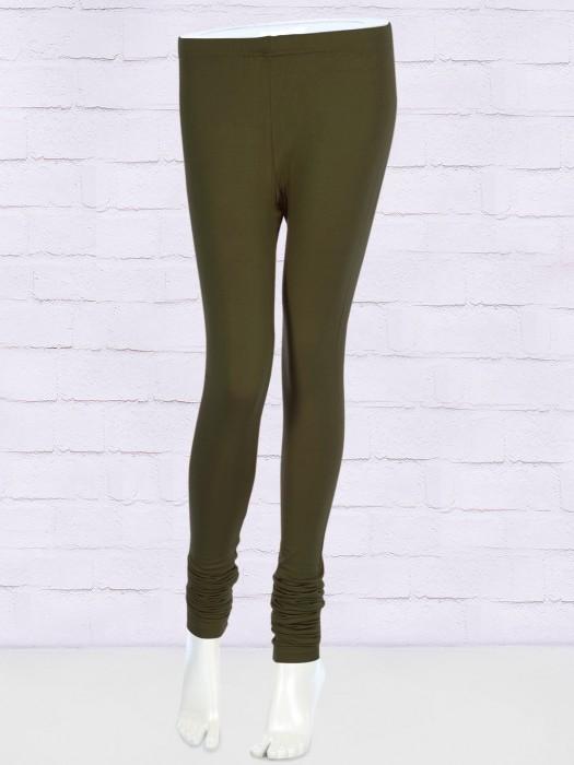 FFU Solid Olive Hue Stretchable Leggings