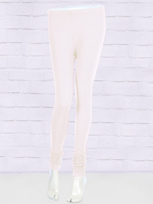 FFU White Color Solid Leggings