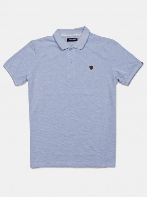 Fitzberg Purple Solid Cotton T-shirt