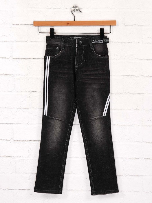 Forway Black Color Denim Slim Fit Jeans