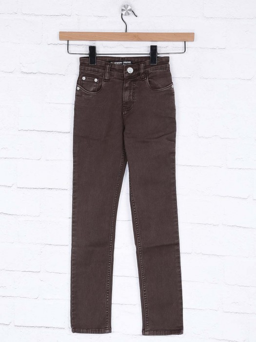 Forway Casual Wear Brown Colored Jeans
