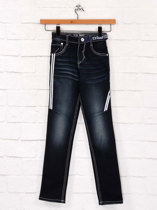 Forway Presented Solid Navy Hue Jeans