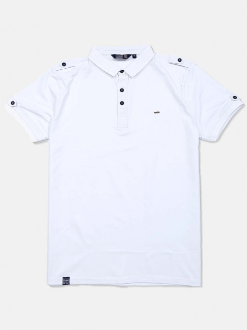 Freeze Casual Cotton White Solid T-shirt
