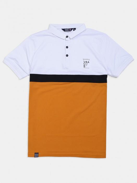 Freeze Mustard Yellow, White Solid T-shirt