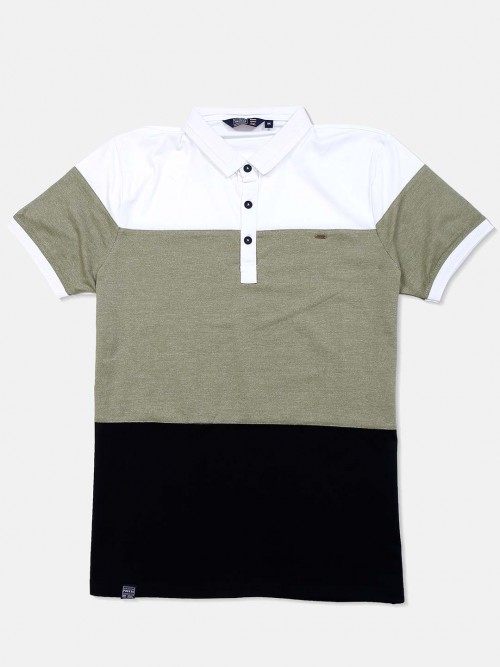 Freeze Olive Solid Cotton Mens T-shirt